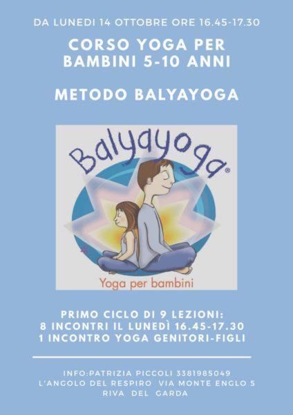 Balyayoga - Yoga per bambini - L'Angolo del Respiro - Riva del Garda