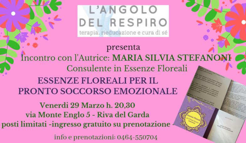 L'Angolo del Respiro - Presentazione libro Essenze Floreali per il pronto soccorso emozionale con Maria Silvia Stefanoni