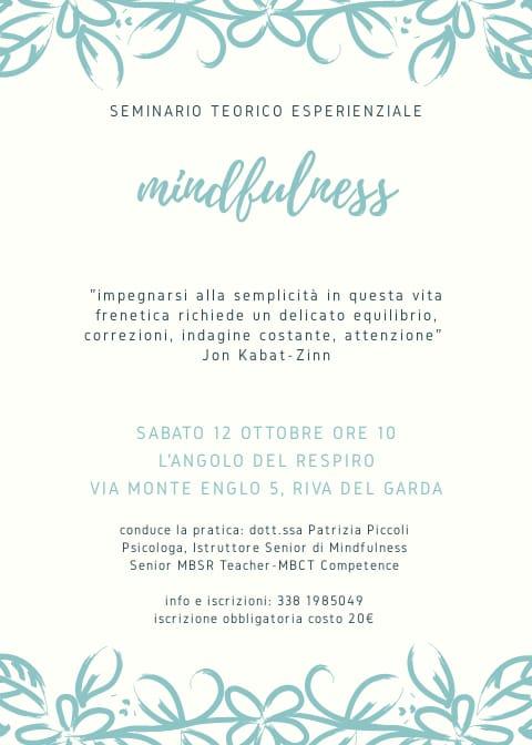 Minfulness - L'Angolo del Respiro - Riva del Garda - Patrizia Piccoli